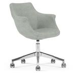 chaise-bureau-reunion-lounge-gris-clair-roulettes