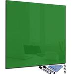Tableau magnétique vert foncé en verre