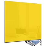 Tableau magnétique jaune clair en verre