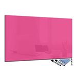 Tableau magnétique rose fushia en verre