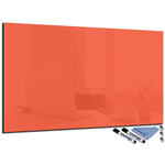 Tableau magnétique orange en verre