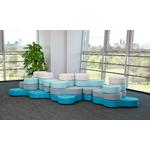 pouf rond et design 4 niveaux pour bureau