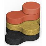 pouf design 4 niveaux pour bureau et accueil