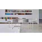 table de réunion blanche et bois
