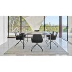 table de réunion bois et noir