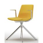 chaise de réunion bureau jaune pivotante
