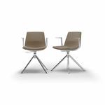 chaise-de-réunion-tapissée-marron