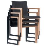 Chaise de réunion métal et bois