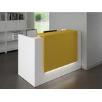 banque daccueil design jaune