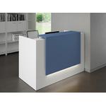 banque daccueil design bleu