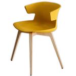 Chaise en bois et tapissée