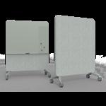 tableau magnétique mobile gris