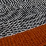tapis de bureau noir formes géométriques