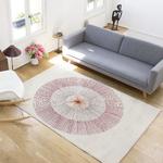 tapis bureau deisng blanc et rouge
