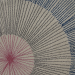 Tapis de bureau design pissenlit bleu et blanc