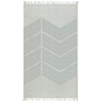 Tapis de bureau gris design zigzag