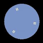 table ronde modulable bleu