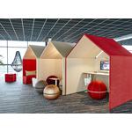 cabine acoustique bureau rouge