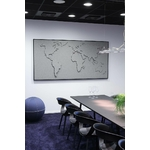 carte du monde design en tissu