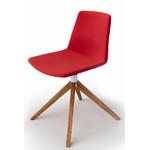 Chaise tapissée et pieds bois