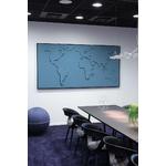 carte-du-monde-design-en-tissu-bleu