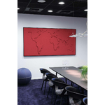 carte-du-monde-design-en-tissu-rouge