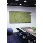 carte-du-monde-design-en-tissu-vert