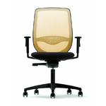 fauteuil-de-bureau-résille-jaune