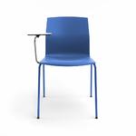 chaise-de-conférence-bleu-avec-tablette-écritoire