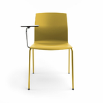 chaise-de-conférence-jaune-avec-tablette-écritoire