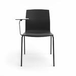 chaise-de-conférence-noir-avec-tablette-écritoire