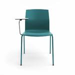 chaise-de-conférence-turquoise-avec-tablette-écritoire