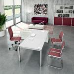 Bureau en verre blanc