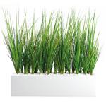 Jardinière herbes artificielles