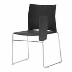 chaise-de-conférence-avec-tablette-noir