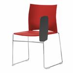 chaise-de-conférence-avec-tablette-rouge