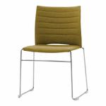 chaise-de-conférence-tapissée-sur-piqure-avec-tablette-jaune-ocre