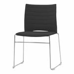 chaise-de-conférence-tapissée-sur-piqure-avec-tablette-noir