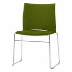 chaise-de-conférence-tapissée-avec-tablette-vert