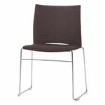 chaise-de-conférence-tapissée-avec-tablette-marron