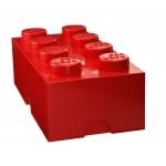 Boite de rangement Lego rouge