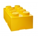 Boite de rangement Lego jaune