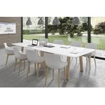 Grande table de réunion pieds bois
