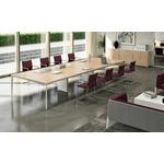 Table-de-réunion-pied-blanc-plateau-mélaminé
