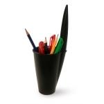 Pot à crayon noir (bouchon de stylo géant)