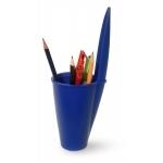 Pot à crayon bleu (bouchon de stylo géant)