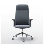 fauteuil de direction deisgn en tissu avec accoudoirs