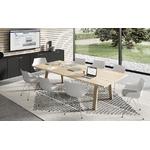 table de coworking bois