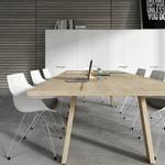 table de réunion et coworking en bois