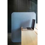 Séparateur acoustique de bureau bleu en feutre